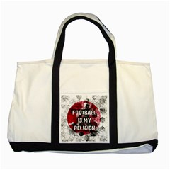 Football Is My Religion Two Tone Tote Bag