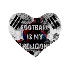 Football Is My Religion Standard 16  Premium Heart Shape Cushions