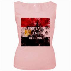 Football Is My Religion Women s Pink Tank Top