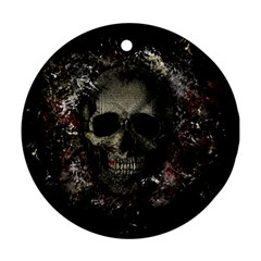 Skull Round Ornament (two Sides)