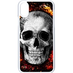 Skull Apple Iphone X Seamless Case (white)