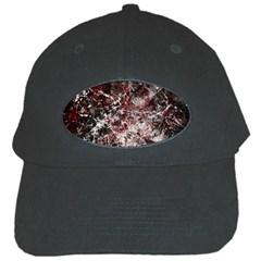 Grunge Pattern Black Cap
