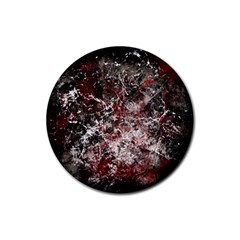 Grunge Pattern Rubber Round Coaster (4 Pack)