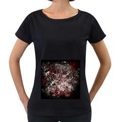 Grunge Pattern Women s Loose Fit T Shirt (black)