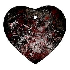 Grunge Pattern Heart Ornament (two Sides)