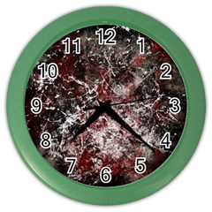 Grunge Pattern Color Wall Clocks