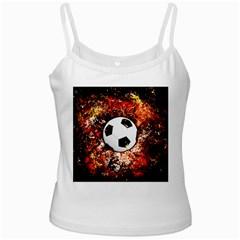 Football  White Spaghetti Tank