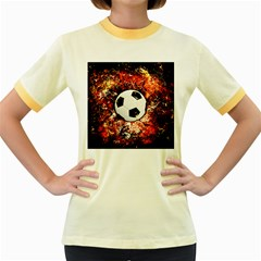 Football  Women s Fitted Ringer T Shirts