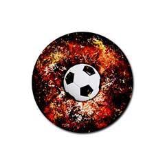 Football  Rubber Coaster (round)