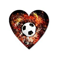 Football  Heart Magnet