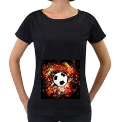 Football  Women s Loose Fit T Shirt (black)