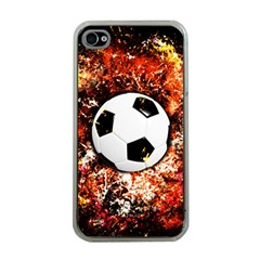 Football  Apple Iphone 4 Case (clear)