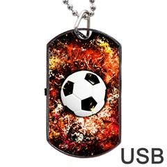 Football  Dog Tag Usb Flash (one Side)