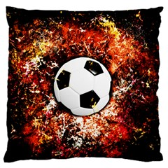 Football  Large Flano Cushion Case (two Sides)