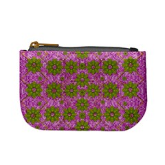 Paradise Flowers In Bohemic Floral Style Mini Coin Purses