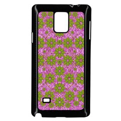 Paradise Flowers In Bohemic Floral Style Samsung Galaxy Note 4 Case (black)