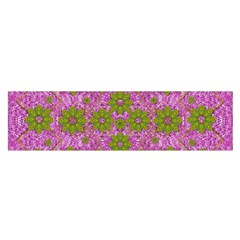 Paradise Flowers In Bohemic Floral Style Satin Scarf (oblong)