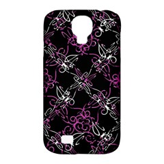 Dark Intersecting Lace Pattern Samsung Galaxy S4 Classic Hardshell Case (pc+silicone)