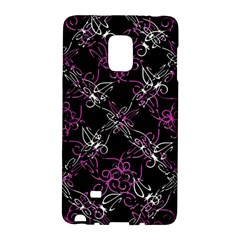 Dark Intersecting Lace Pattern Galaxy Note Edge