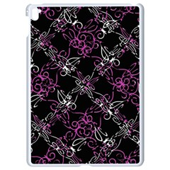 Dark Intersecting Lace Pattern Apple Ipad Pro 9 7   White Seamless Case