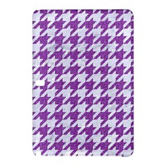 HOUNDSTOOTH1 WHITE MARBLE & PURPLE DENIM Samsung Galaxy Tab Pro 12.2 Hardshell Case from Front