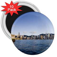 HK harbour 3  Magnet (10 pack)