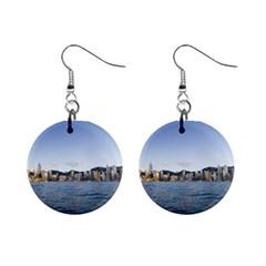 Hk Harbour 1  Button Earrings
