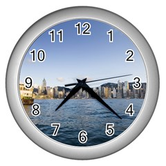 HK harbour Wall Clock (Silver)