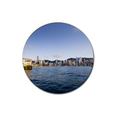 HK harbour Rubber Round Coaster (4 pack)