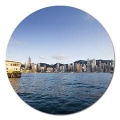 Hk Harbour Magnet 5  (round)