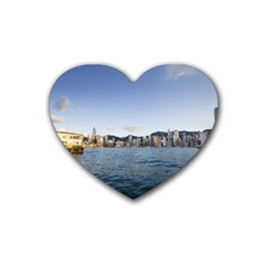 HK harbour Rubber Coaster (Heart)