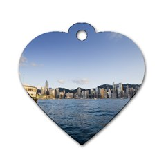 HK harbour Dog Tag Heart (One Side)