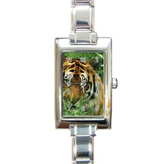 Tiger Rectangular Italian Charm Watch