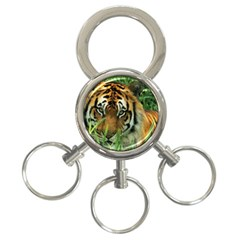 Tiger 3-Ring Key Chain