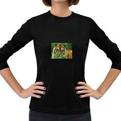Tiger Women s Long Sleeve Dark T-Shirt