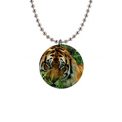 Tiger 1  Button Necklace