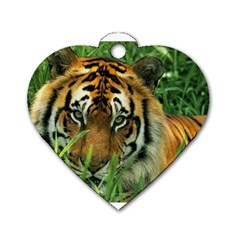 Tiger Dog Tag Heart (One Side)