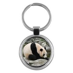 Giant Panda Key Chain (Round)