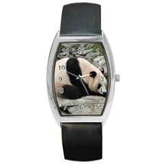 Giant Panda Barrel Style Metal Watch
