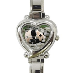 Giant Panda Heart Italian Charm Watch