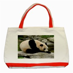 Giant Panda Classic Tote Bag (Red)