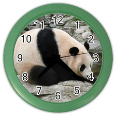 Giant Panda Color Wall Clock
