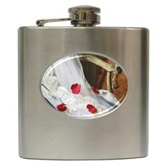 Western Wedding Festival Hip Flask (6 oz)