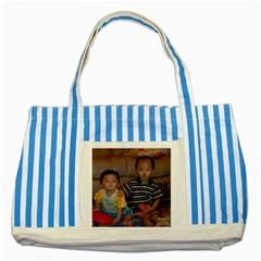 SNV33518 Striped Blue Tote Bag