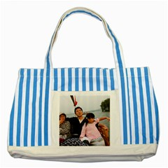 ?? 111 Striped Blue Tote Bag