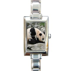 Giant Panda Rectangular Italian Charm Watch