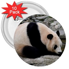 Giant Panda 3  Button (10 Pack)