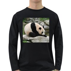 Giant Panda Long Sleeve Dark T-Shirt