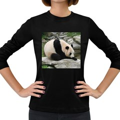 Giant Panda Women s Long Sleeve Dark T-Shirt