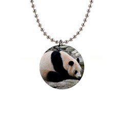 Giant Panda 1  Button Necklace